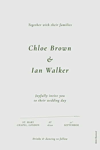 Wedding Invitations Forever ferns (foil) green - Page 2