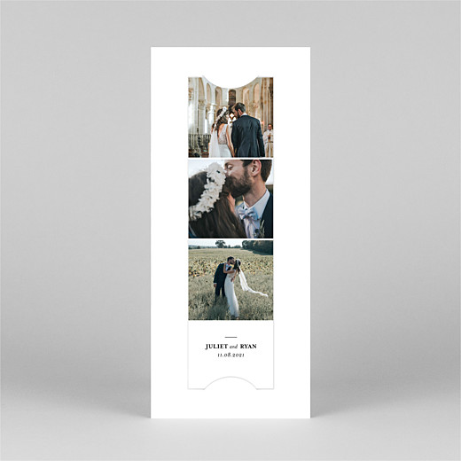 Wedding Thank You Cards Ever after (bookmark) white - View 2