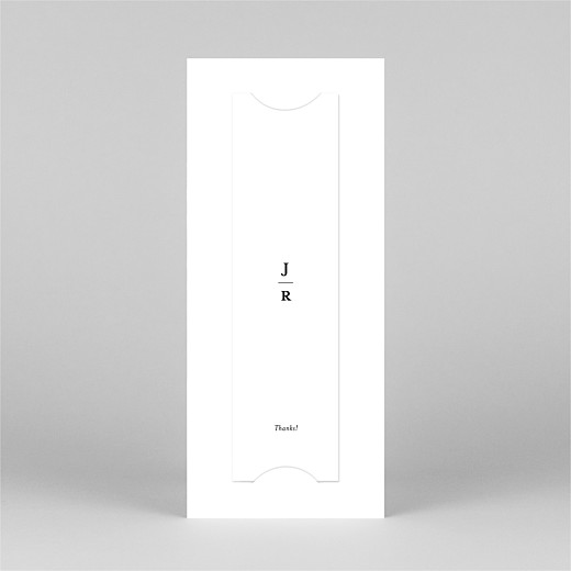 Wedding Thank You Cards Ever after (bookmark) white - View 3