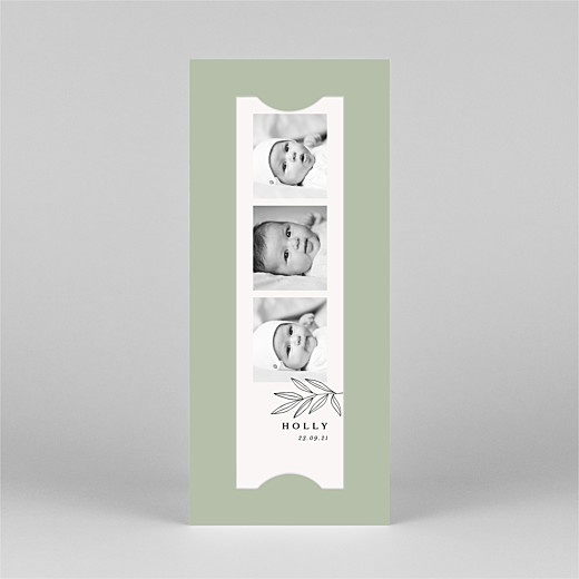 Baby Thank You Cards Budding branch (bookmark) green - View 2