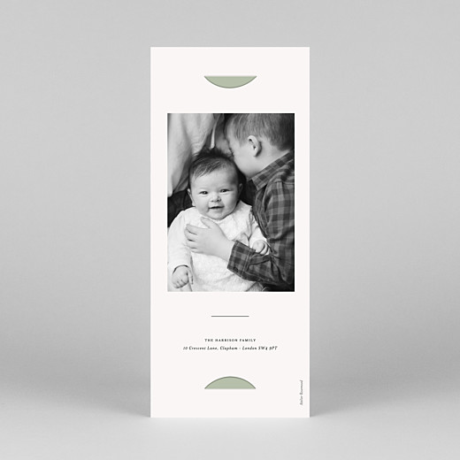 Baby Thank You Cards Budding branch (bookmark) green - View 4