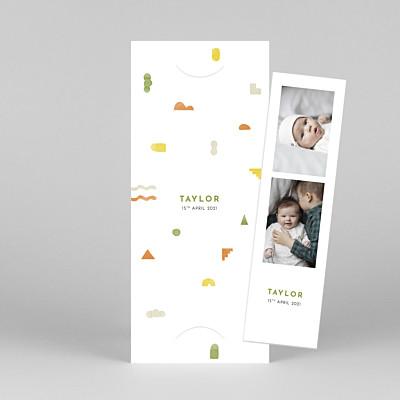 Building blocks (bookmark) orange orange baby thank you cards