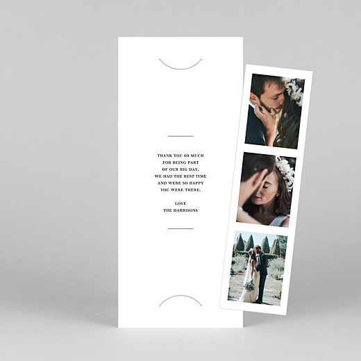 Wedding Thank You Cards Modern chic (bookmark) white - View 1