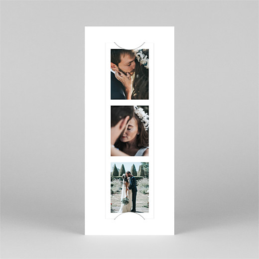 Wedding Thank You Cards Modern chic (bookmark) white - View 2