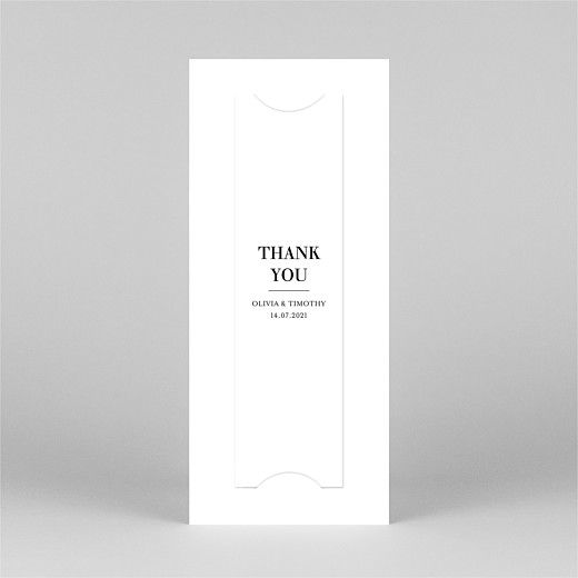 Wedding Thank You Cards Modern chic (bookmark) white - View 3