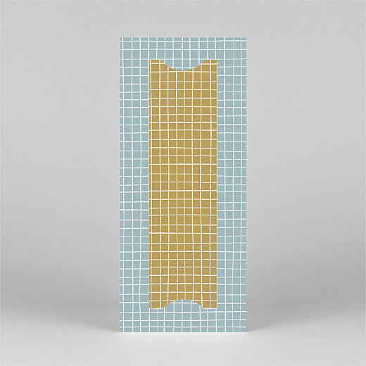 Baby Thank You Cards Scandi squares (bookmark) blue - View 3