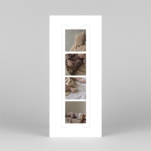 Baby Thank You Cards Photo booth (bookmark) white - View 2