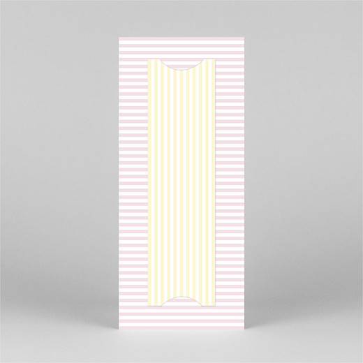 Baby Thank You Cards Pastel stripes (bookmark) pink - View 3