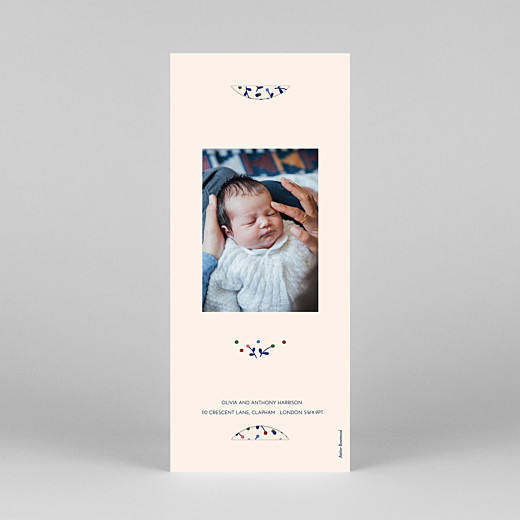 Baby Thank You Cards Liberty berries (bookmark) blue - View 4