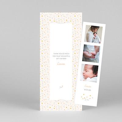Liberty berries (bookmark) orange grey baby thank you cards