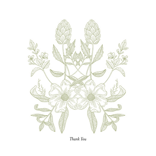 Wedding Thank You Cards Springs eternal green