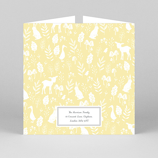 Baby Thank You Cards Fable (gatefold) yellow - View 3