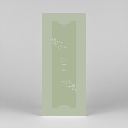 Baby Thank You Cards Budding branch (bookmark) green - View 3