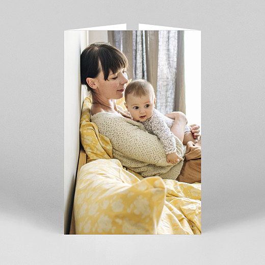 Baby Thank You Cards Timeless (gatefold portrait) white - View 3