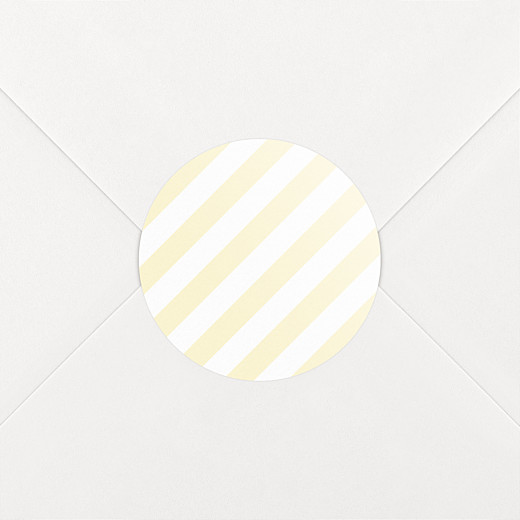 Baby Stickers Pastel stripes yellow - View 2
