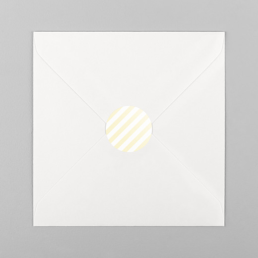 Baby Stickers Pastel stripes yellow - View 1
