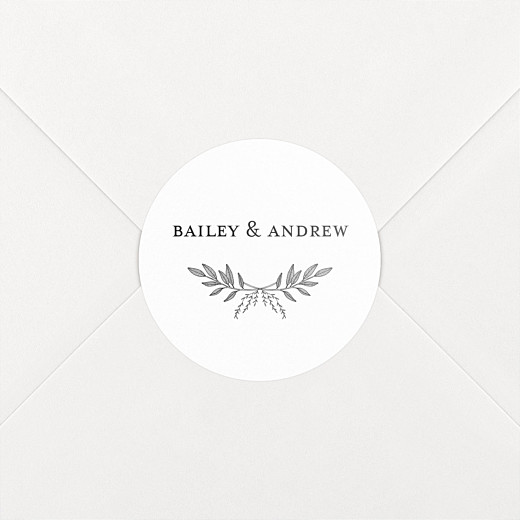 Wedding Stickers Springs eternal white - View 2