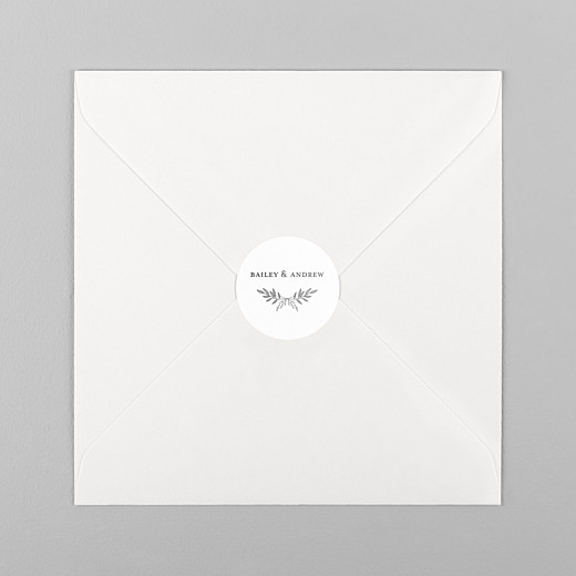 Wedding Stickers Springs eternal white - View 1