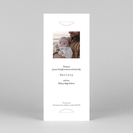 Baby Thank You Cards Picto column (bookmark) pink - View 4