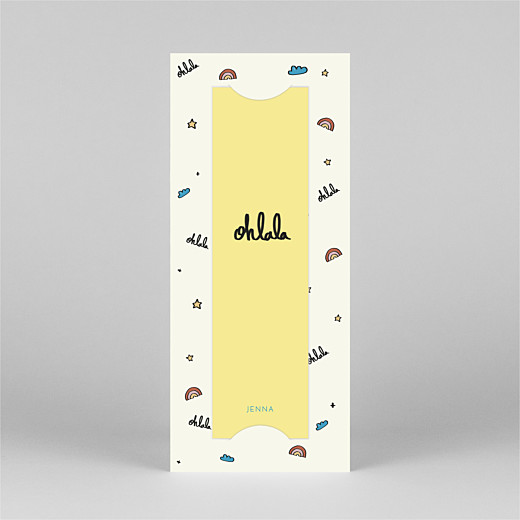 Baby Thank You Cards Ohlala by mathilde cabanas (bookmark) yellow blue - View 2