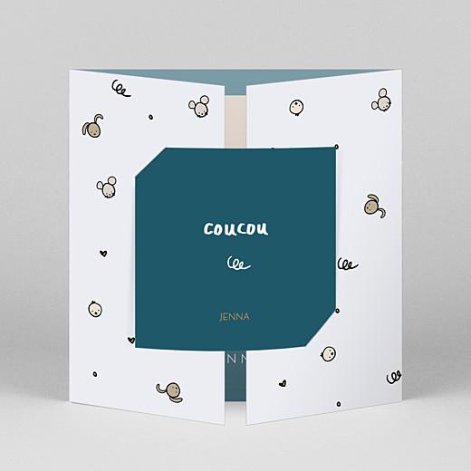 宝贝,感谢卡Coucou由马蒂尔德卡巴纳斯(折叠门)蓝色视图1