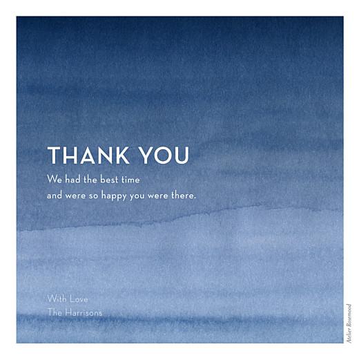 婚礼谢谢卡片水彩蓝色