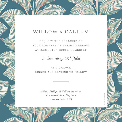 Wedding Invitations Calathea bleu - Page 2