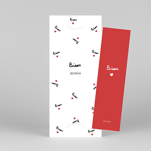Baby Thank You Cards Bisou by mathilde cabanas (bookmark) red - View 1