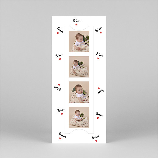 Baby Thank You Cards Bisou by mathilde cabanas (bookmark) red - View 3