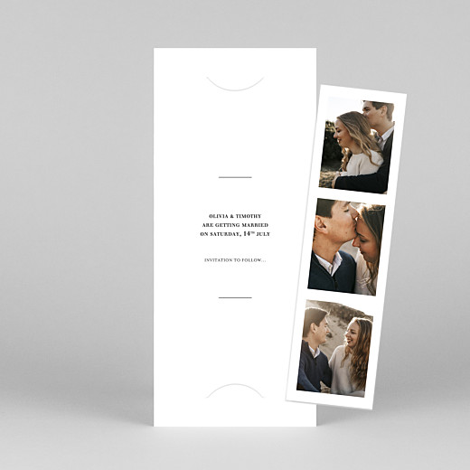 Save The Date Cards Modern chic (bookmark) white - View 1