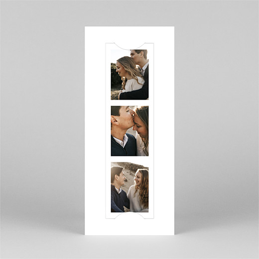 Save The Date Cards Modern chic (bookmark) white - View 2