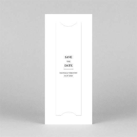 Save The Date Cards Modern chic (bookmark) white - View 3