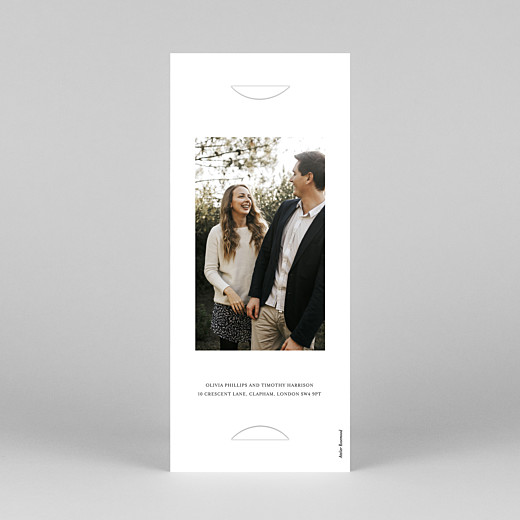 Save The Date Cards Modern chic (bookmark) white - View 4