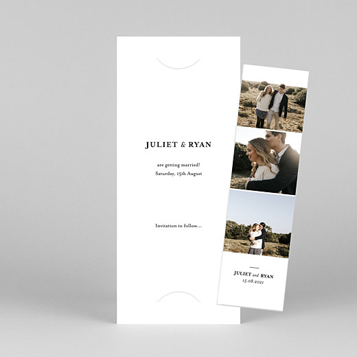 Save The Date Cards Ever after (bookmark) white - View 1