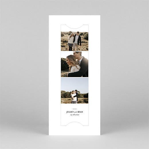 Save The Date Cards Ever after (bookmark) white - View 2
