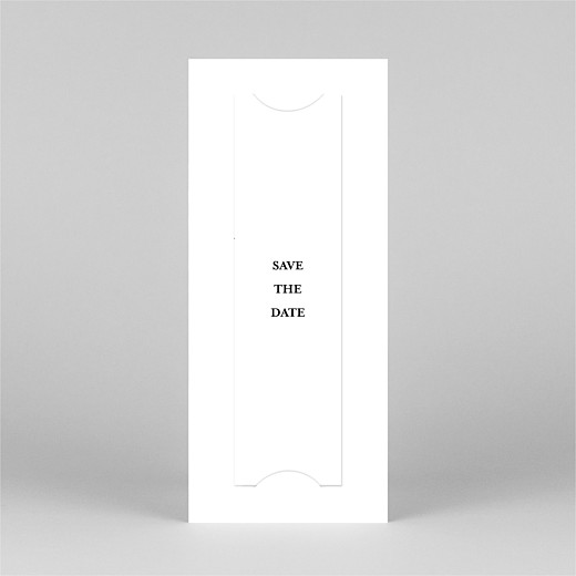 Save The Date Cards Ever after (bookmark) white - View 3