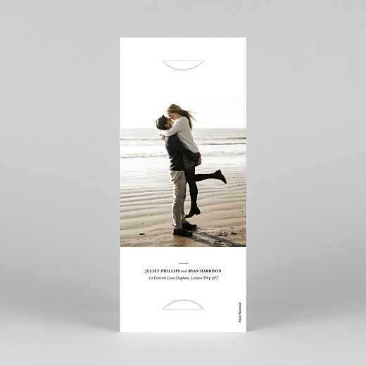 Save The Date Cards Ever after (bookmark) white - View 4