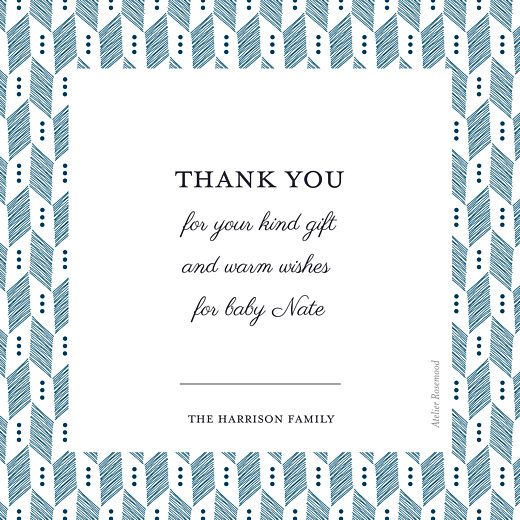 Baby Thank You Cards Chevron blue - Page 2