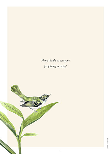 Christening Order of Service Booklets Flora and fauna white - Page 4