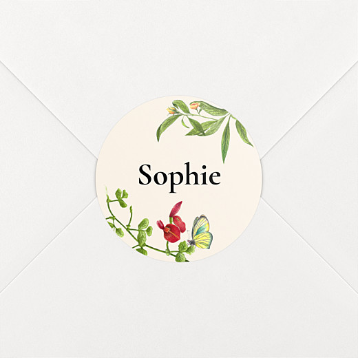 Christening Stickers Flora and fauna white - View 2