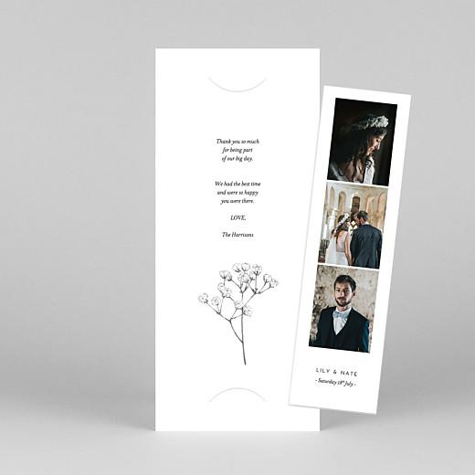 Wedding Thank You Cards Gypsophila (bookmark) white - View 1
