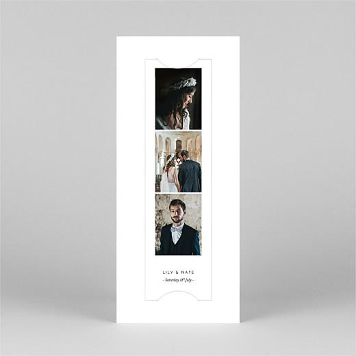 Wedding Thank You Cards Gypsophila (bookmark) white - View 2