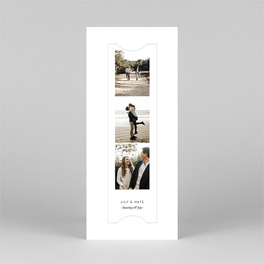 Save The Date Cards Gypsophila (bookmark) white - View 2