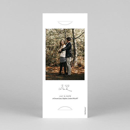 Save The Date Cards Gypsophila (bookmark) white - View 4