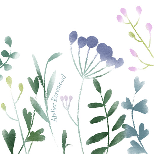 Christening Gift Tags Watercolour meadow purple - Page 2