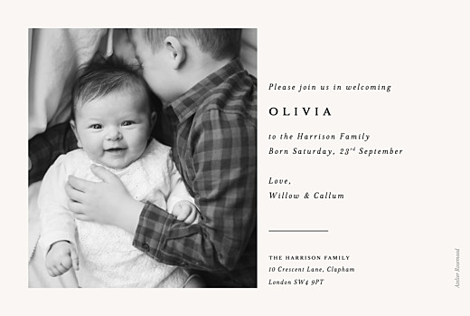 Baby Announcements Budding branch beige - Page 2