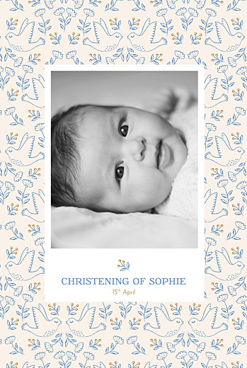 Christening Invitations Soaring beige
