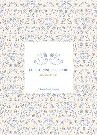 Christening Order of Service Booklets Soaring blue