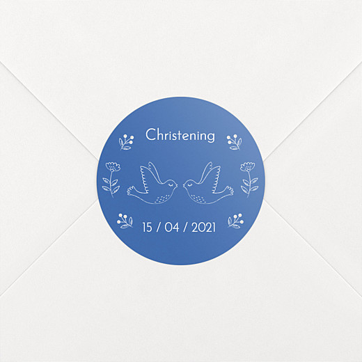 Christening Stickers Soaring blue - View 2