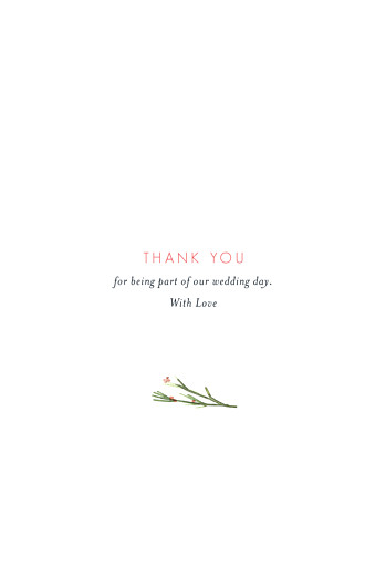 Wedding Thank You Cards Spring blossom (4 pages) beige - Page 3